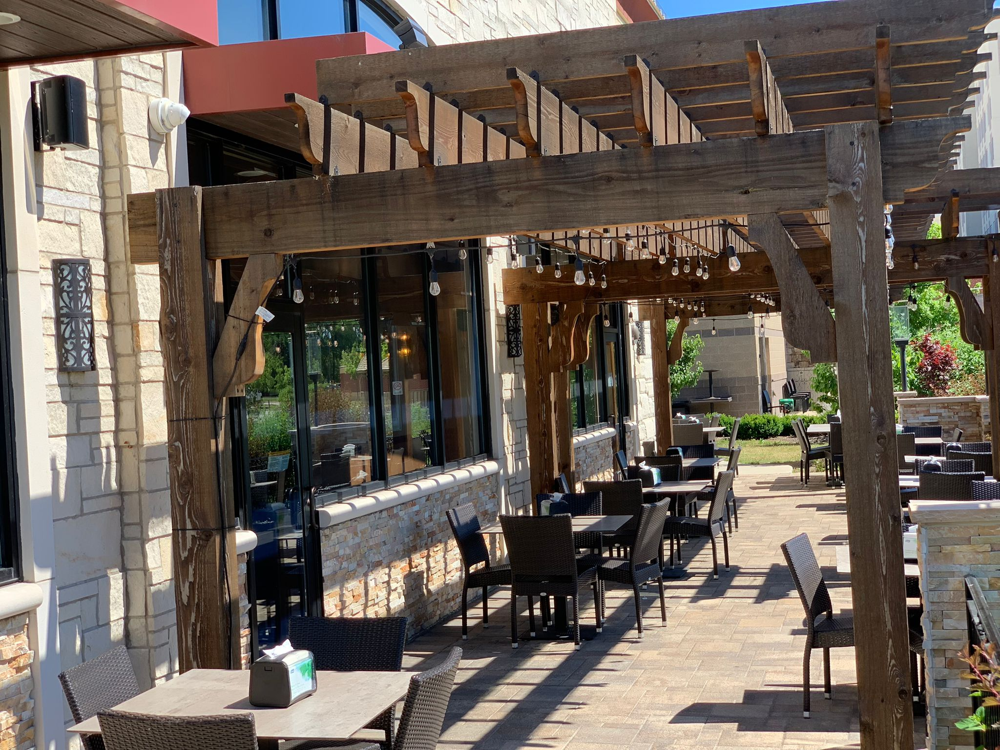 Patio of Pita Inn Naperville location