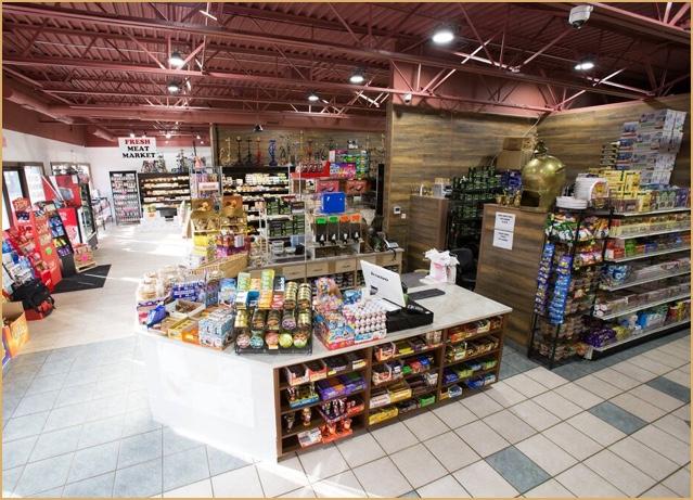 Interior of Pita Inn Market & Bakery in Skokie